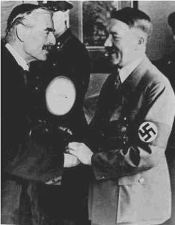 Hitler and Chamberlain at Munich 1938